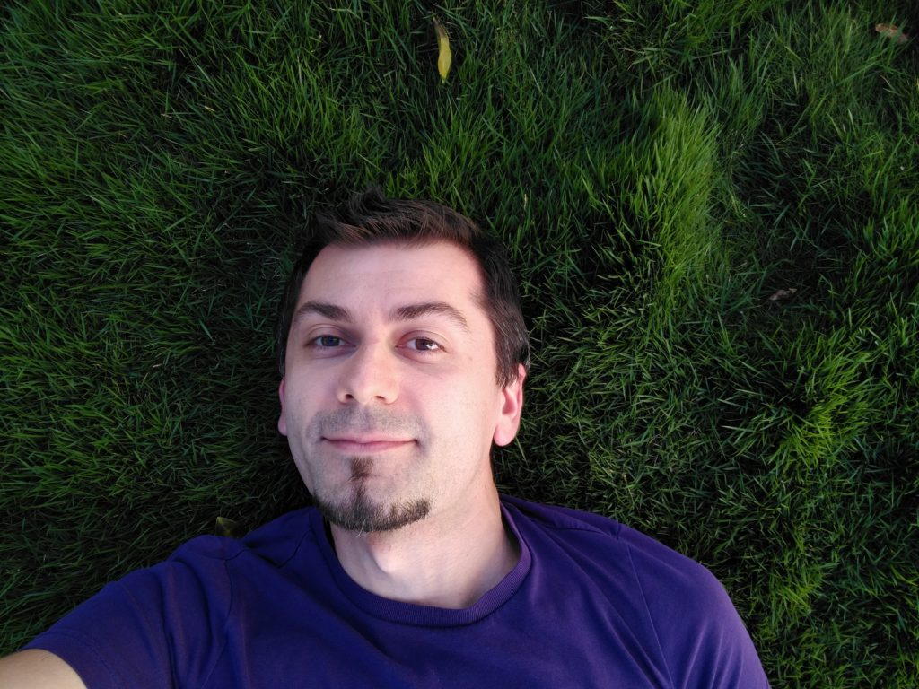 Dan in the grass